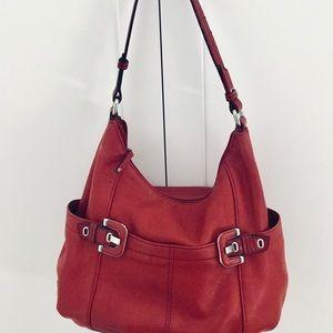 Tignanello red genuine leather handbag